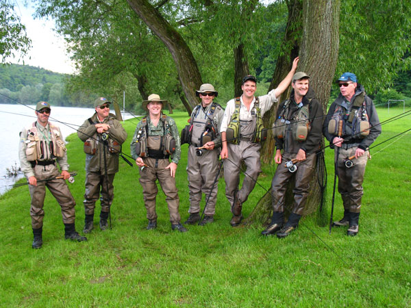 Australian fly fishing team at Czech Nymph Masterclass by Jan Siman